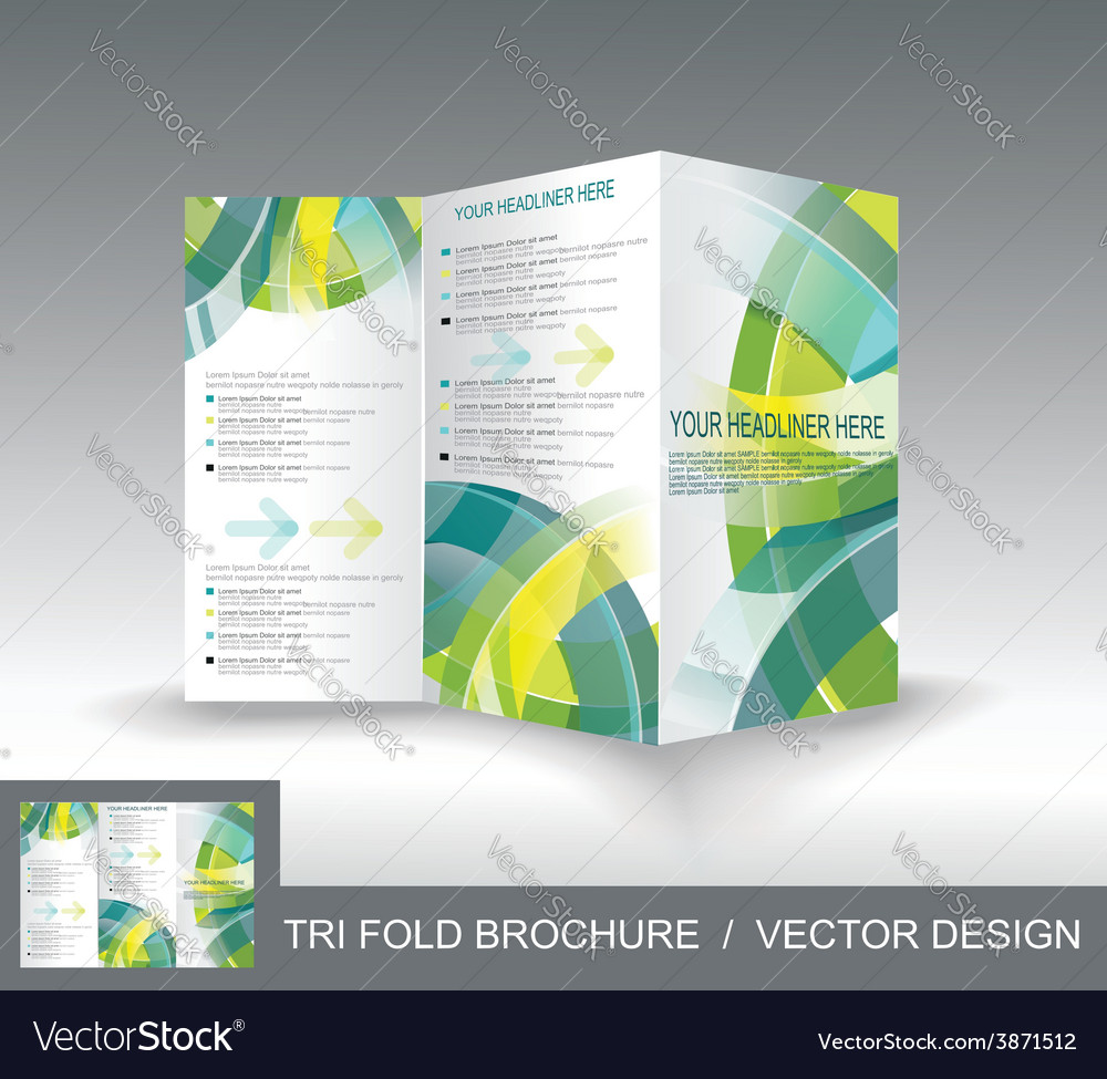 Brochure Template Design With 3d Glass Circles Vector Image
