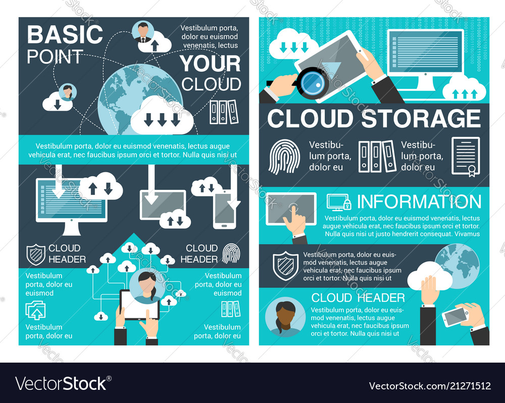 Cloud storage banner for information technology