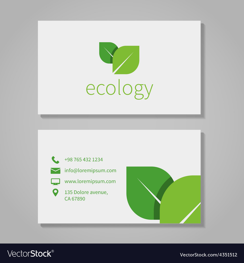 Ecological or eco energy company business card