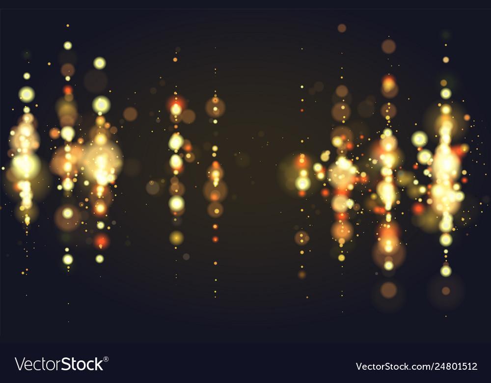 Golden Bokeh Sparkle Glitter Lights