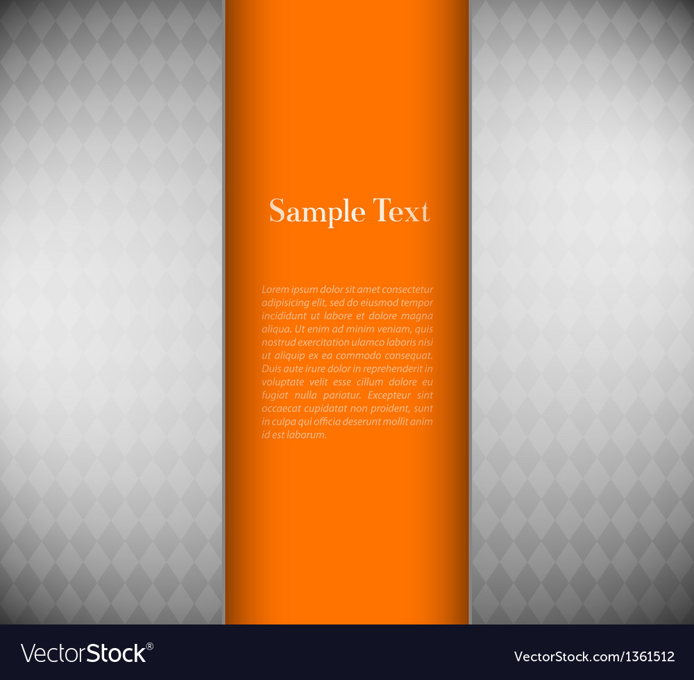 Metallic background with orange card