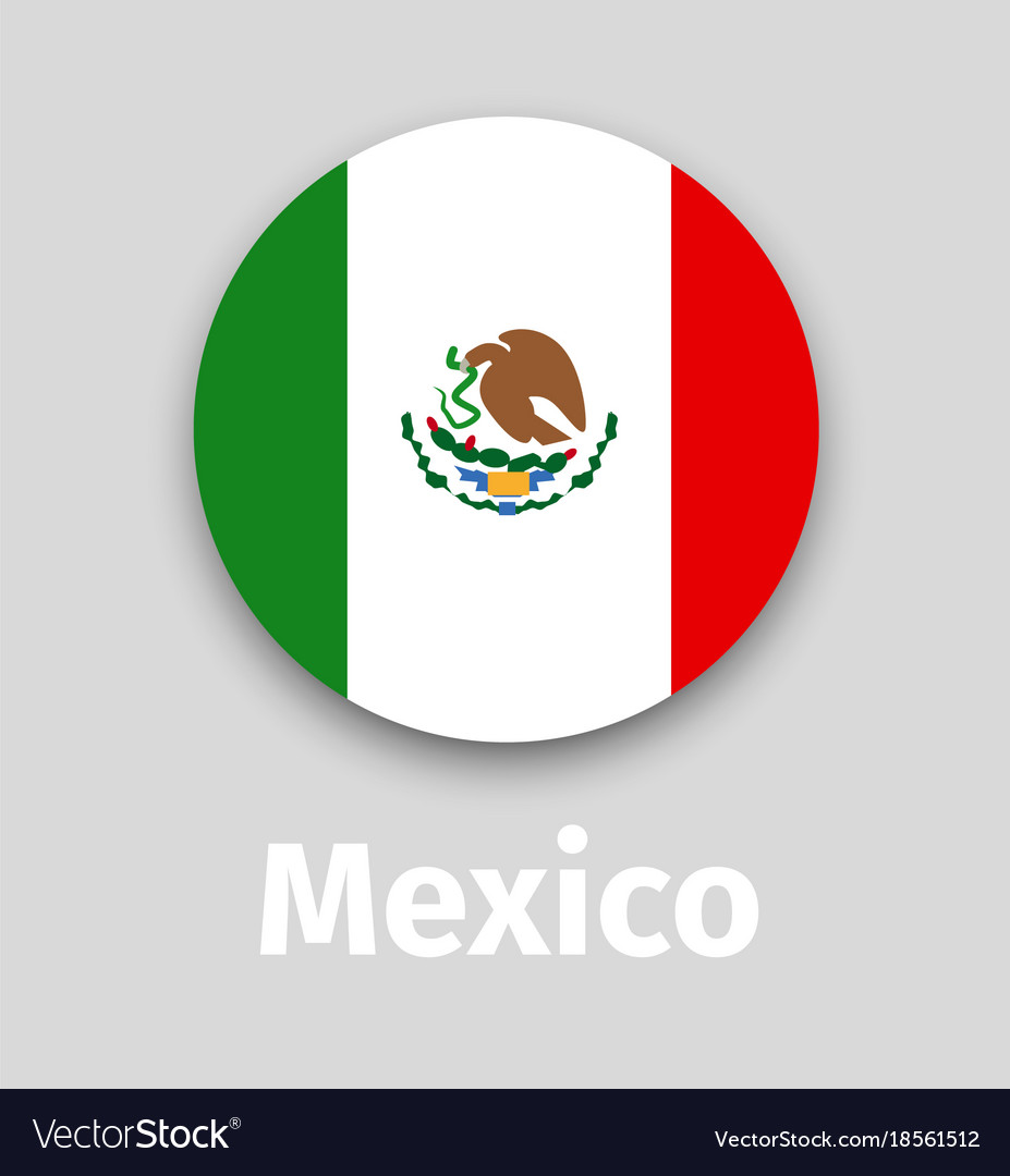 mexico flag round icon with shadow royalty free vector image rh vectorstock com mexico flag vector free mexican flag vector