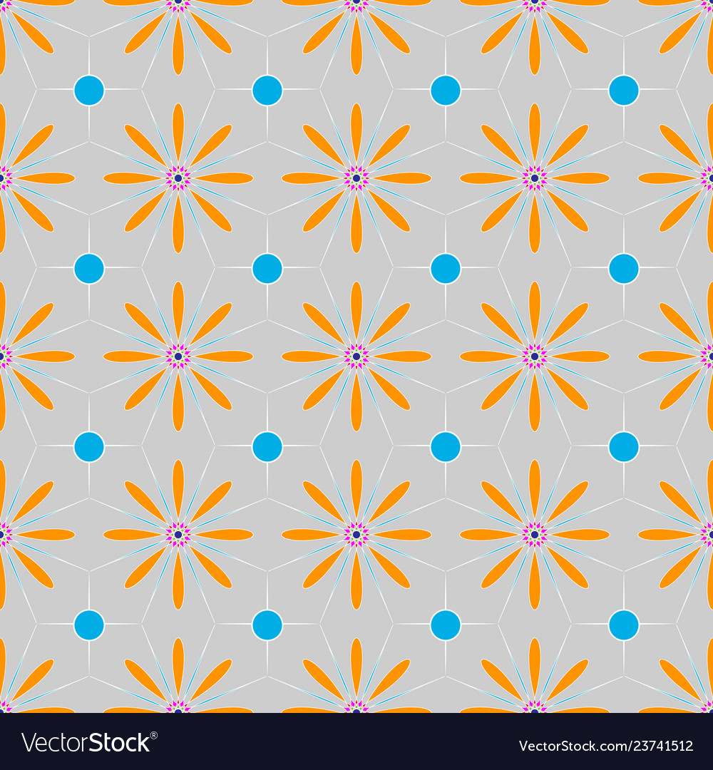 Multicolored floral ethnic geometric patterns