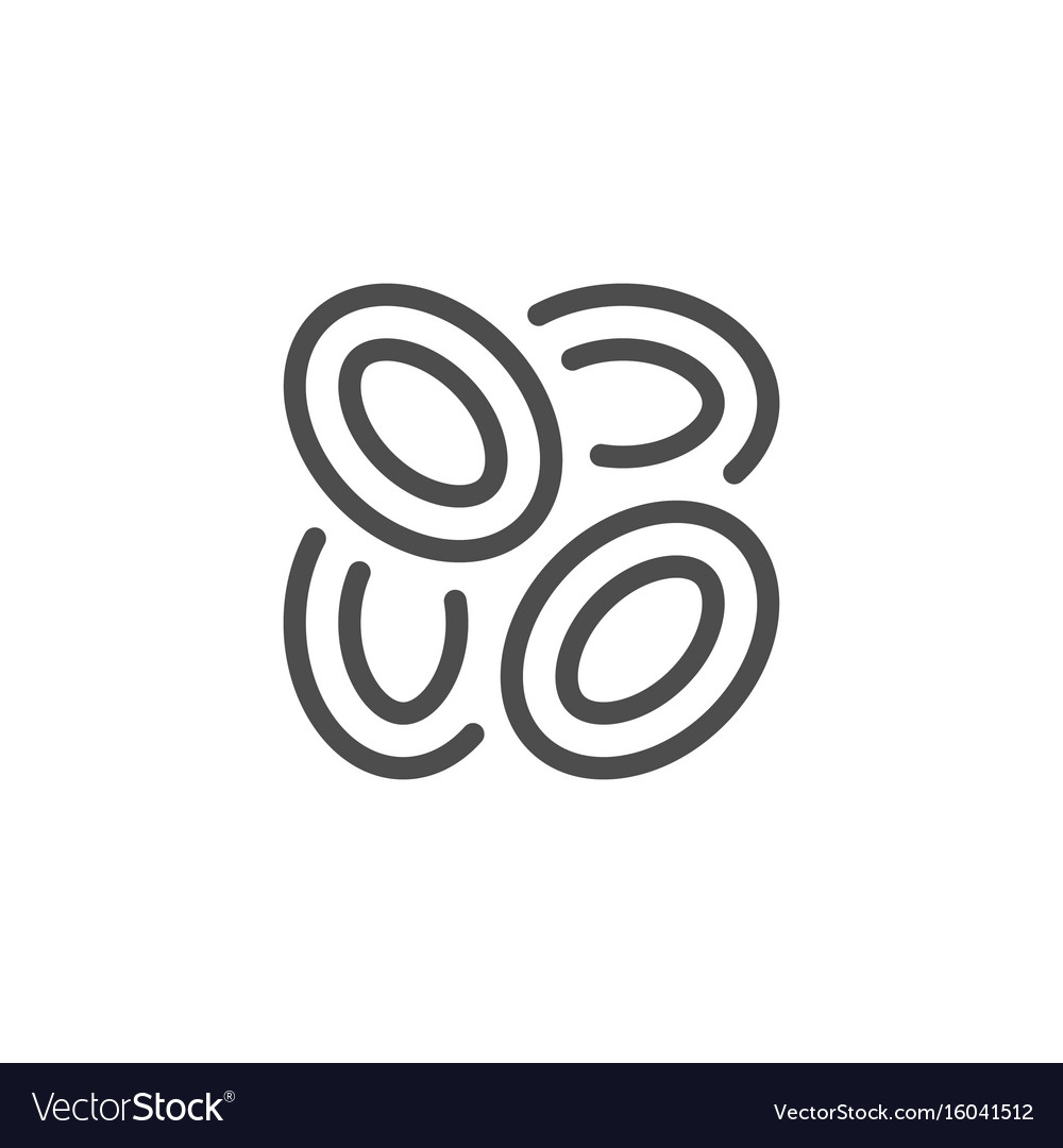 Onion rings line icon