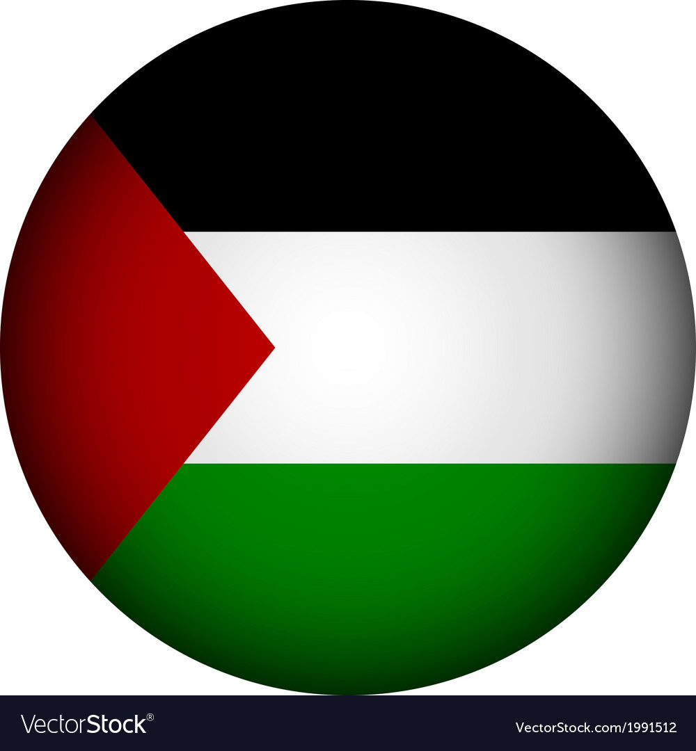 palestine flag button royalty free vector image