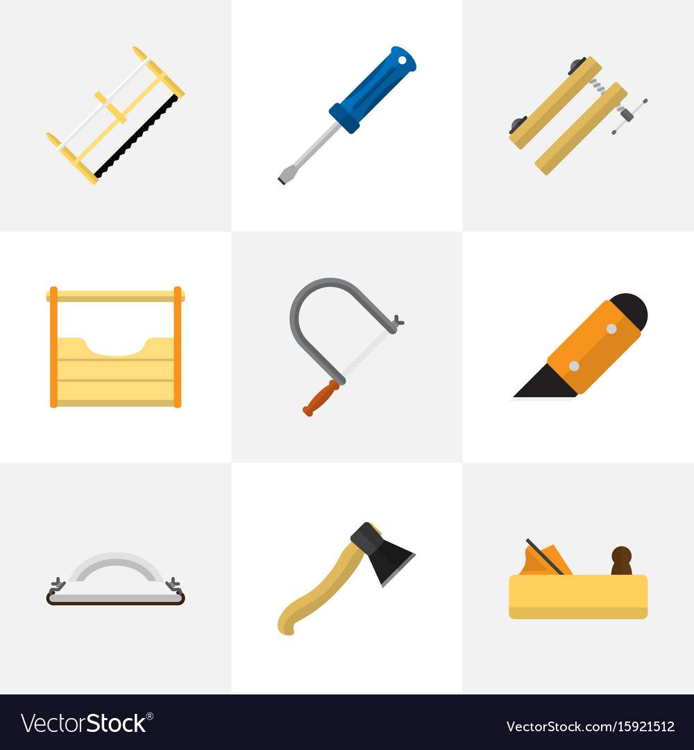 Set of 9 editable instrument flat icons includes