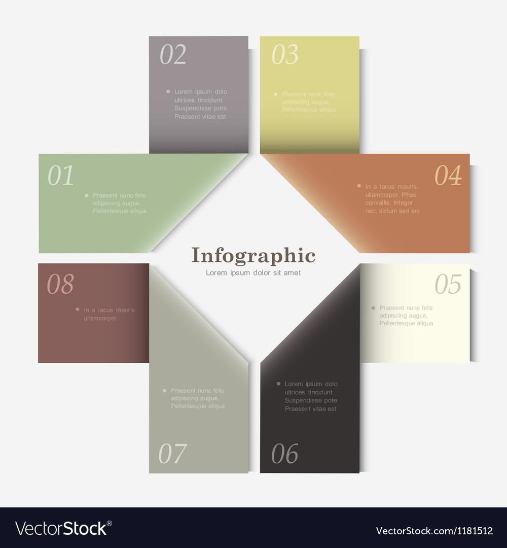Trendy Design template for infographics website