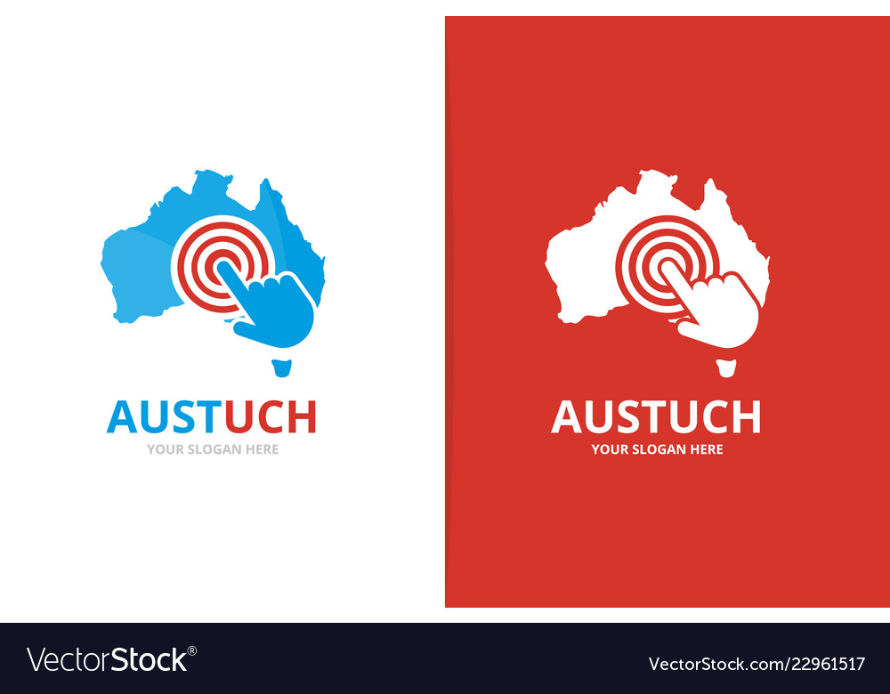 Australia and click logo combination