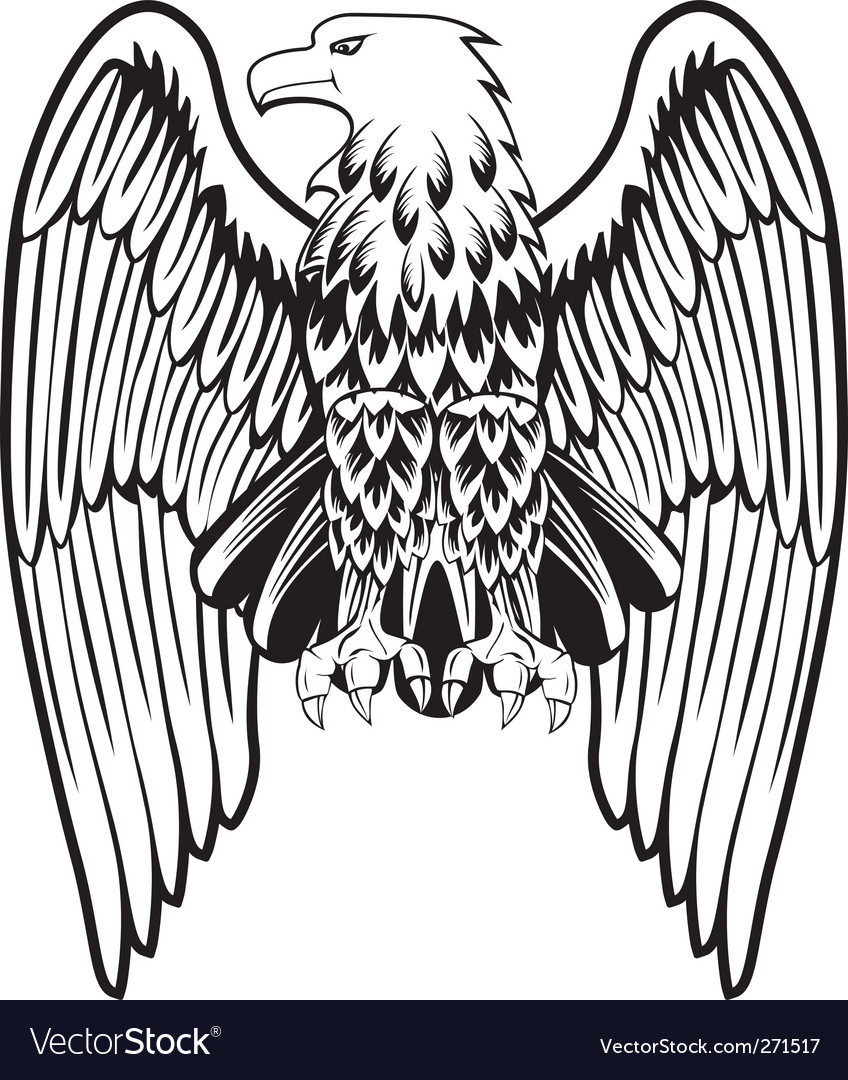 eagle with the lowered wings royalty free vector image vectorstock