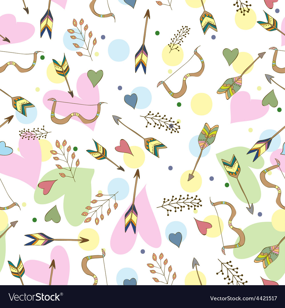 Ethnic colorful seamless pattern made in vecor vector image
