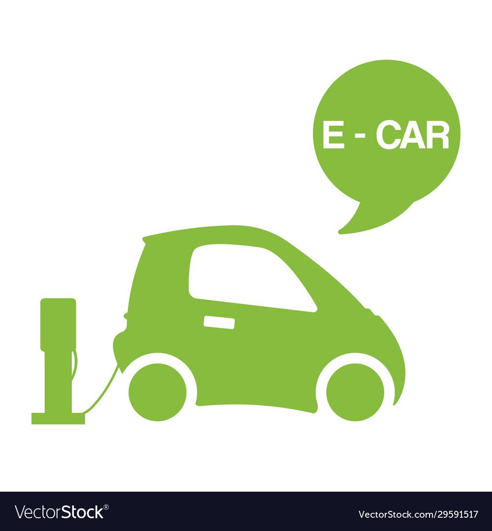 Green e-car ecological electromobile concept