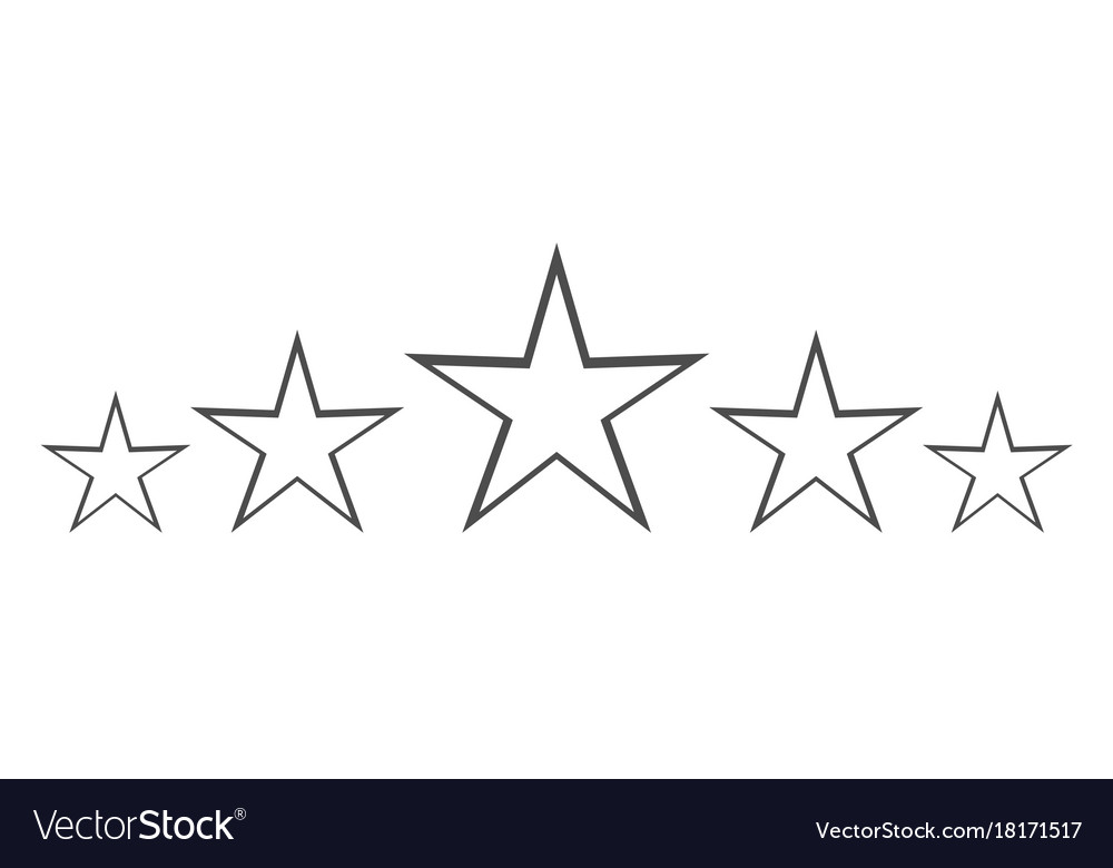 Isolated gray star icon in set ranking mark