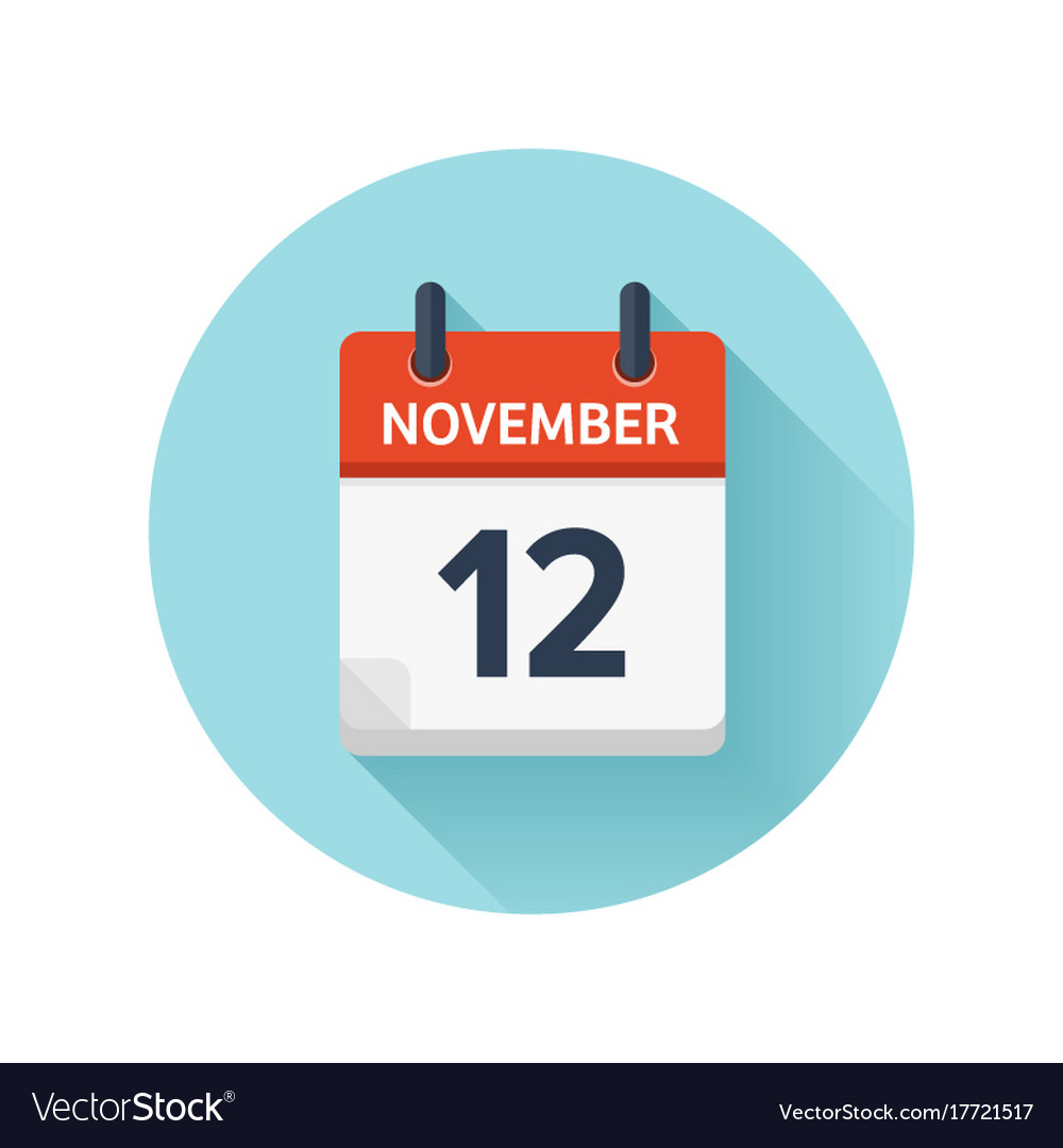 November 12 flat daily calendar icon date