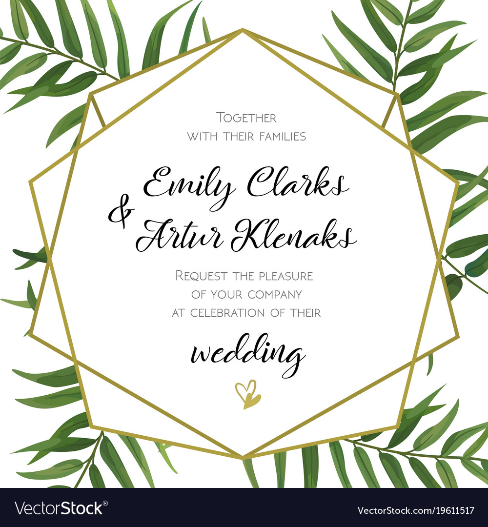 Wedding invitation floral invite card design vector image stopboris Images