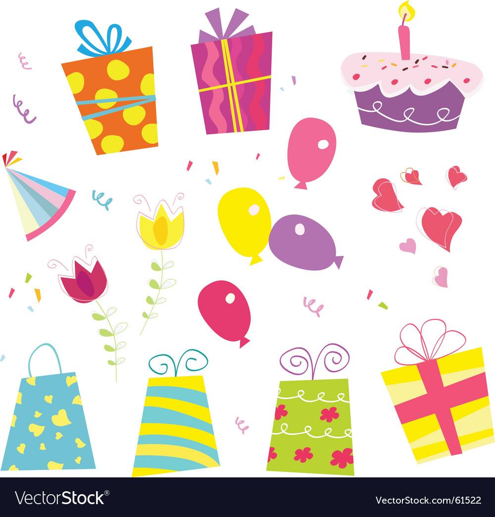Birthday party Royalty Free Vector Image VectorStock
