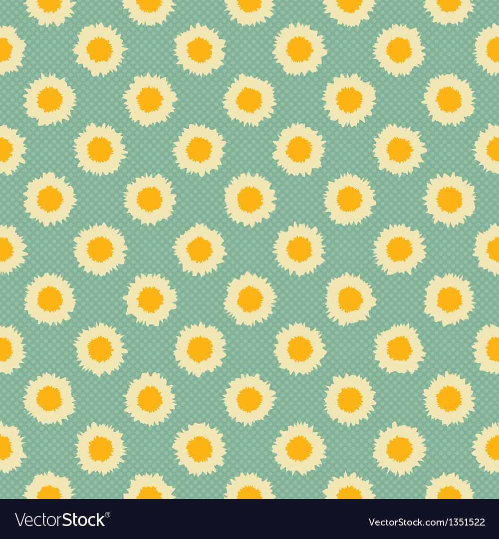 Camomile polka dot vector image
