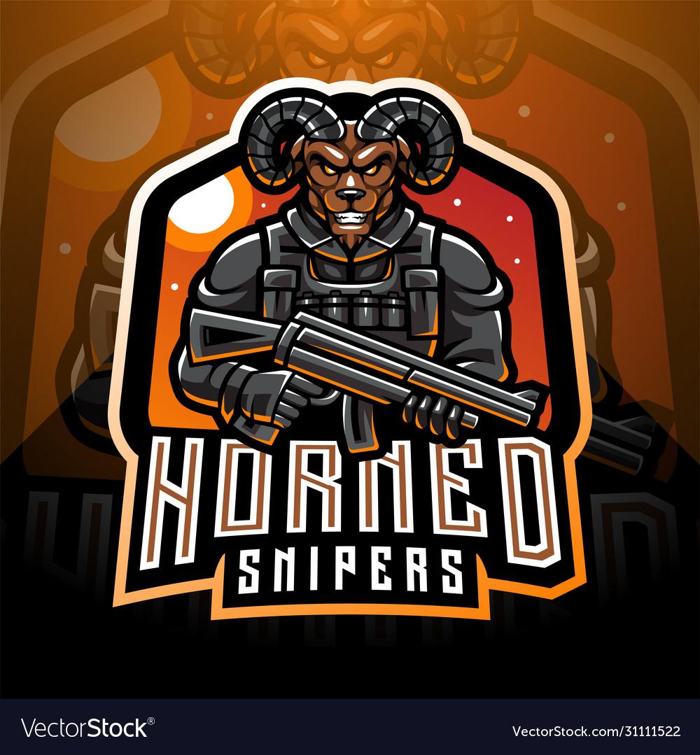 Goat gunners esport mascot logo design