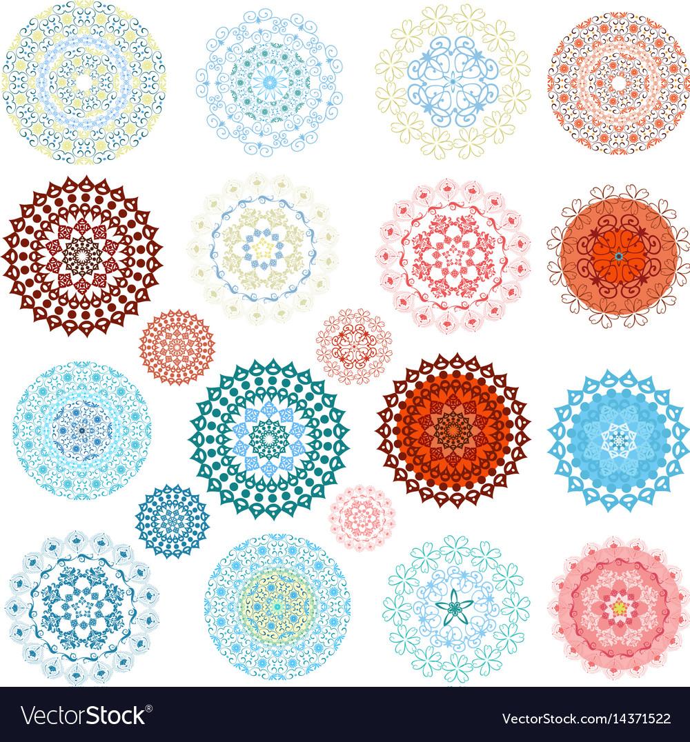 Graceful set of design elements vector image