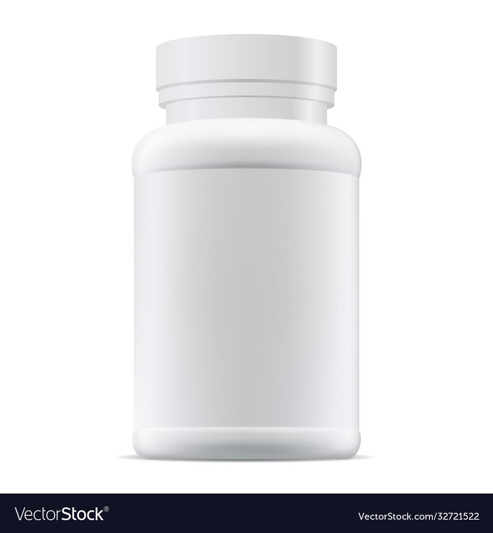 Medicine pill bottle mockup supplement package