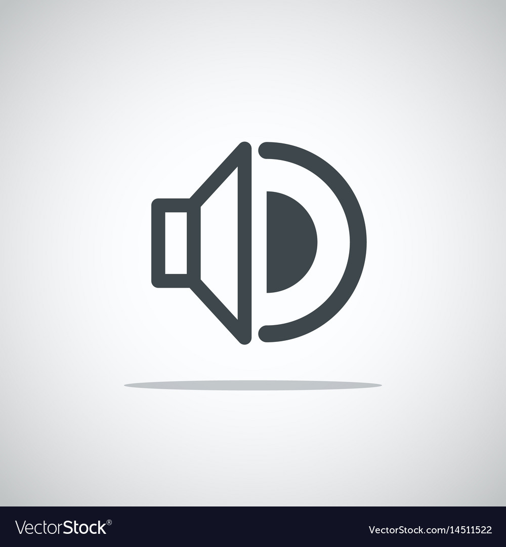 Modern media web icon volume