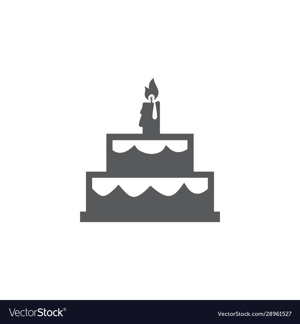 Cake icon on white background vector