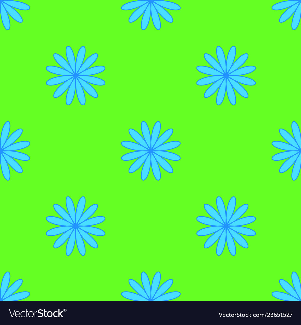 Floral pattern on the neon green background