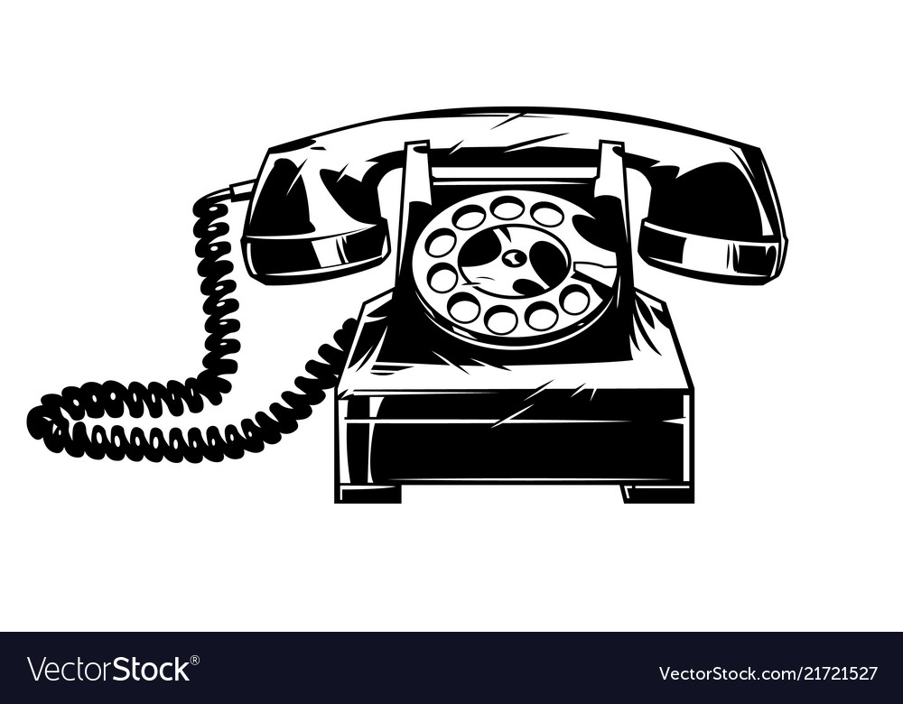Old telphone in cmic style