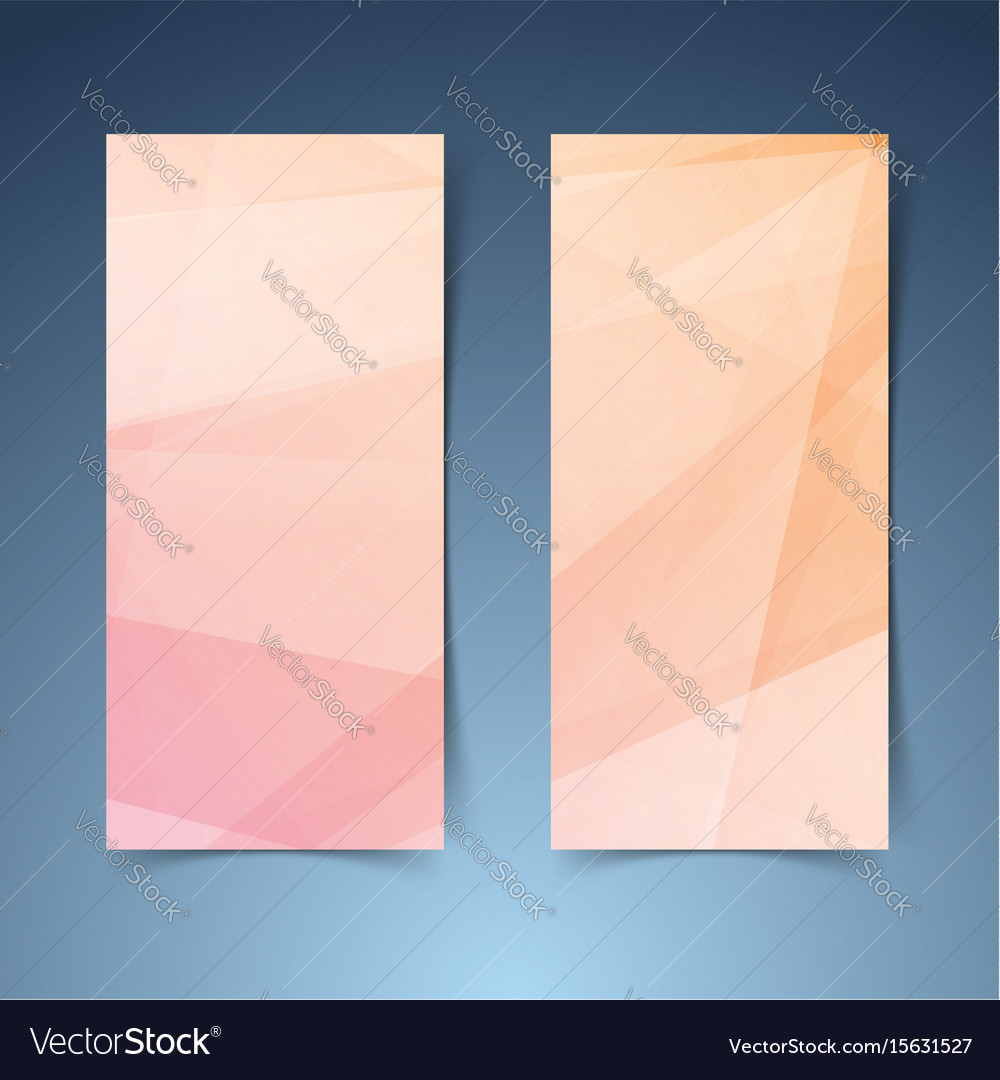 Orange geometrical lines abstract banner