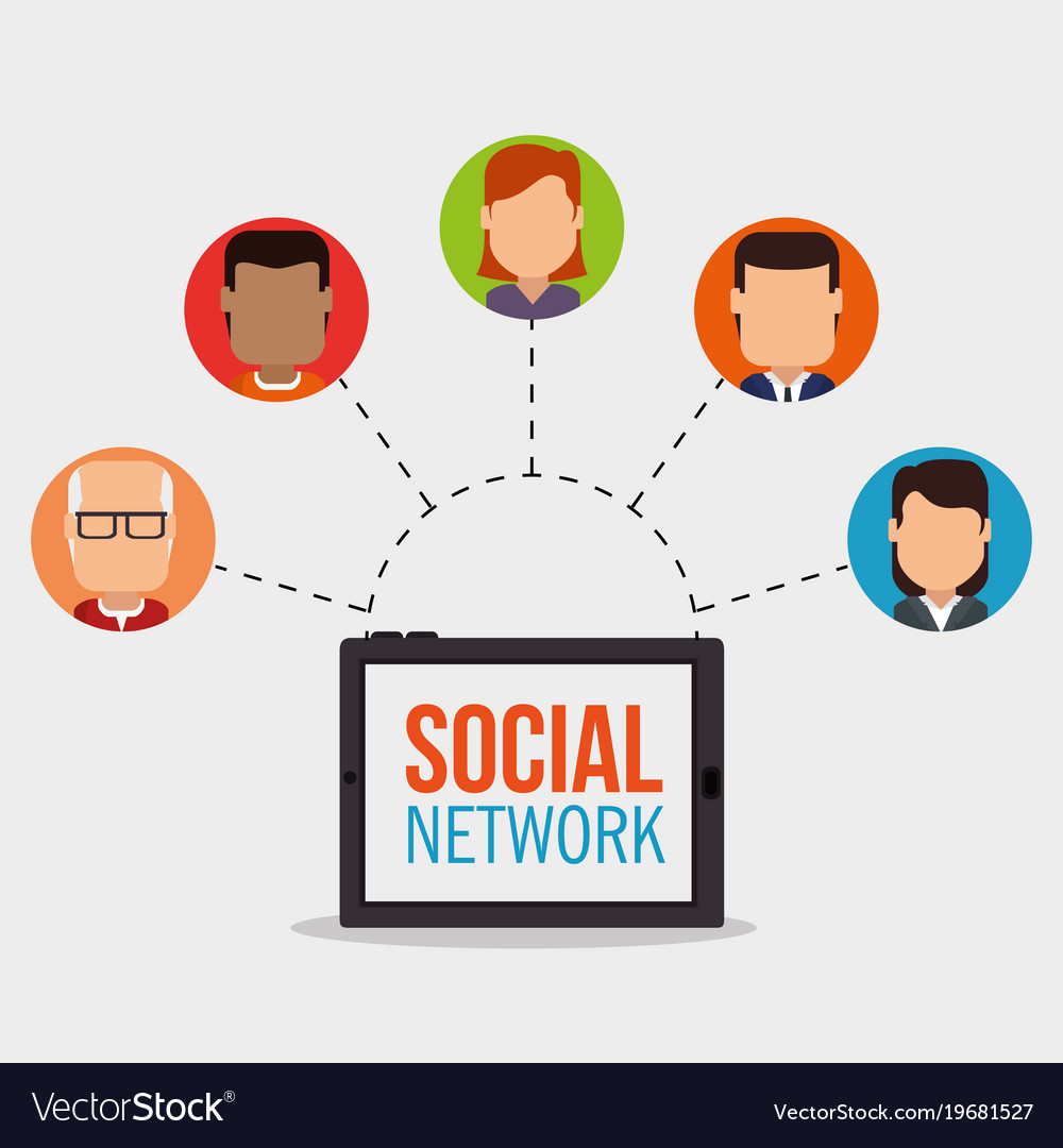 Social network concept people connected