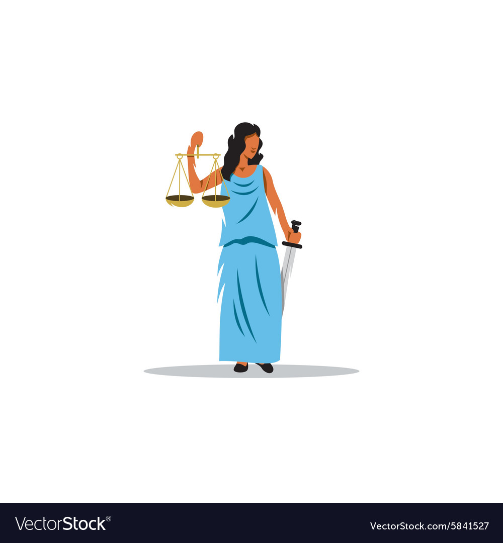 Themis sign The Mythological Greek goddess of vector image
