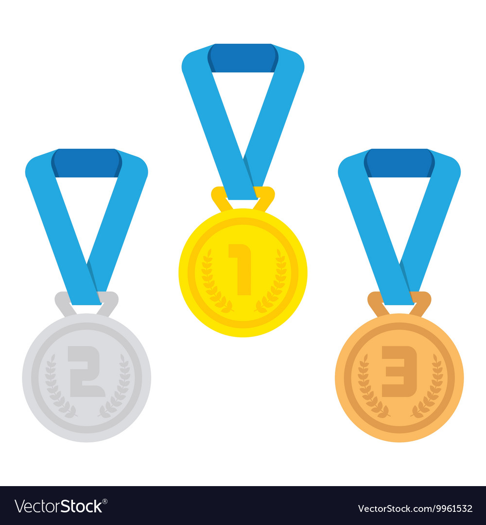 Isolated medal on the white background vector image