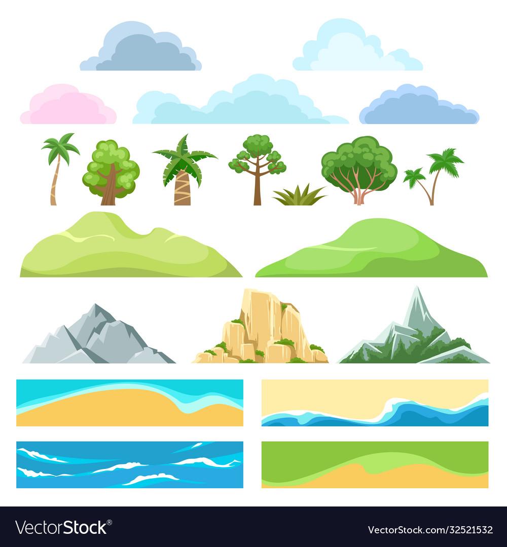 Landscape cartoon constructor