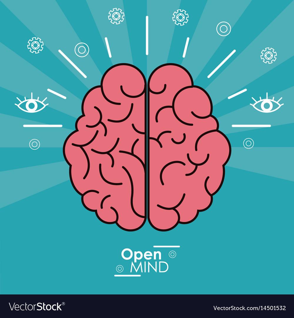 Open mind human brain concept design