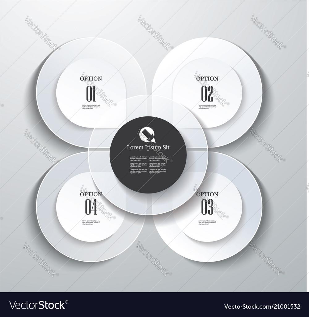 Option petals template infographic or web design