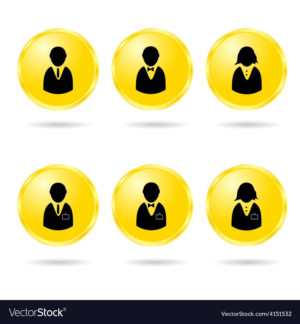 People icon in colorful