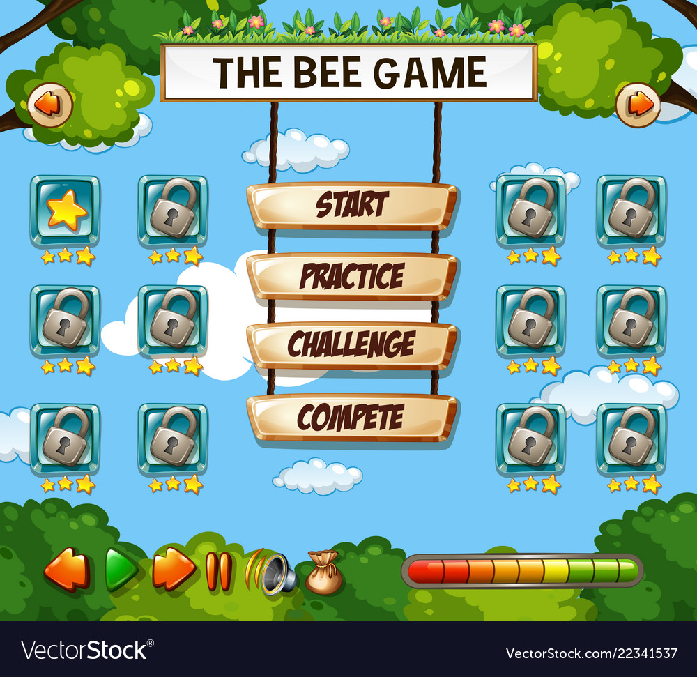 a bee game template royalty free vector image vectorstock