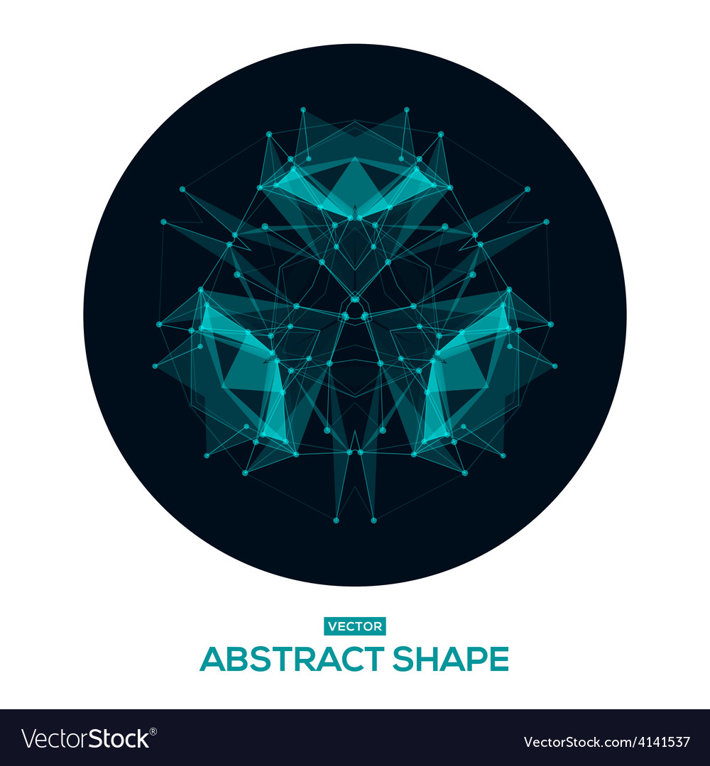 Abstract geometric shape low poly HUD