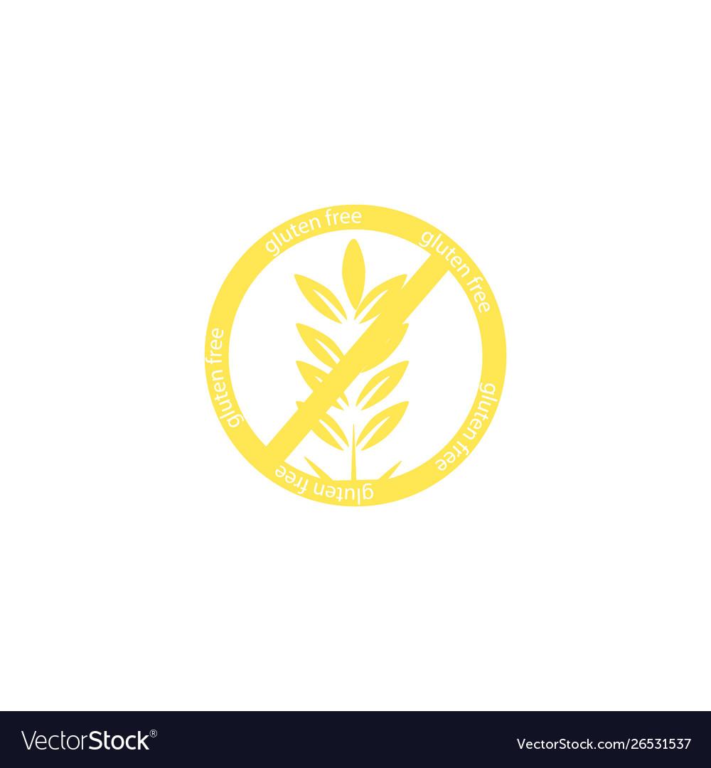 Gluten free icon isolated on white background