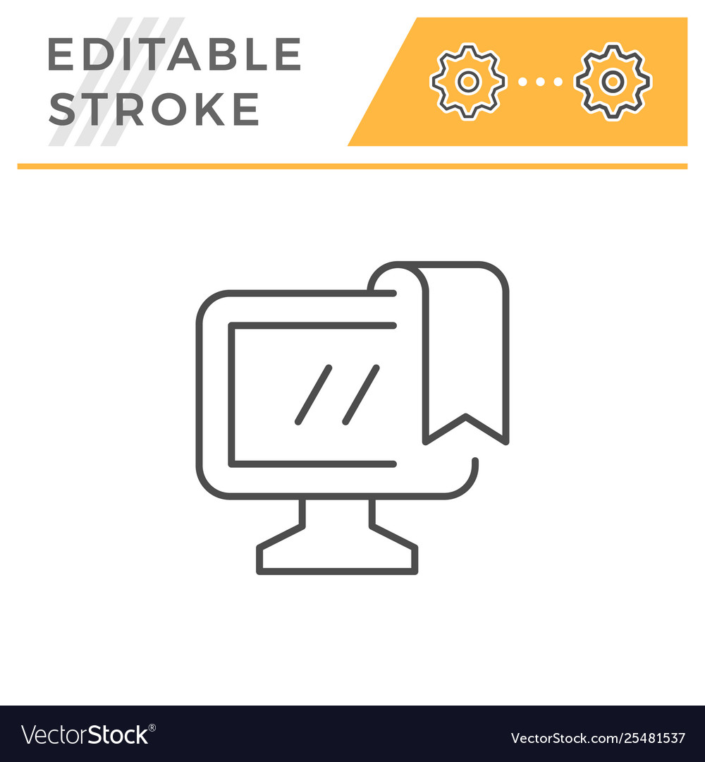 Online education editable stroke line icon