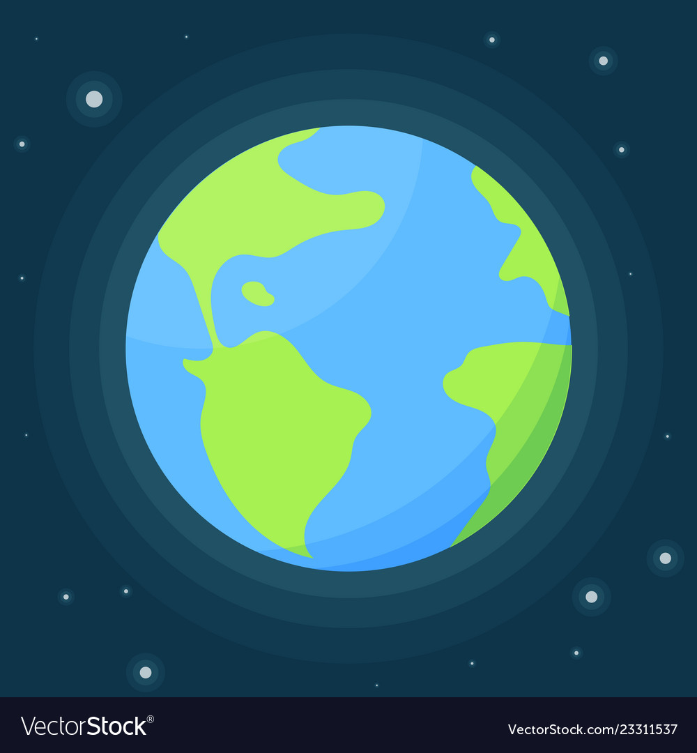 Planet earth with atmosphere against the starry