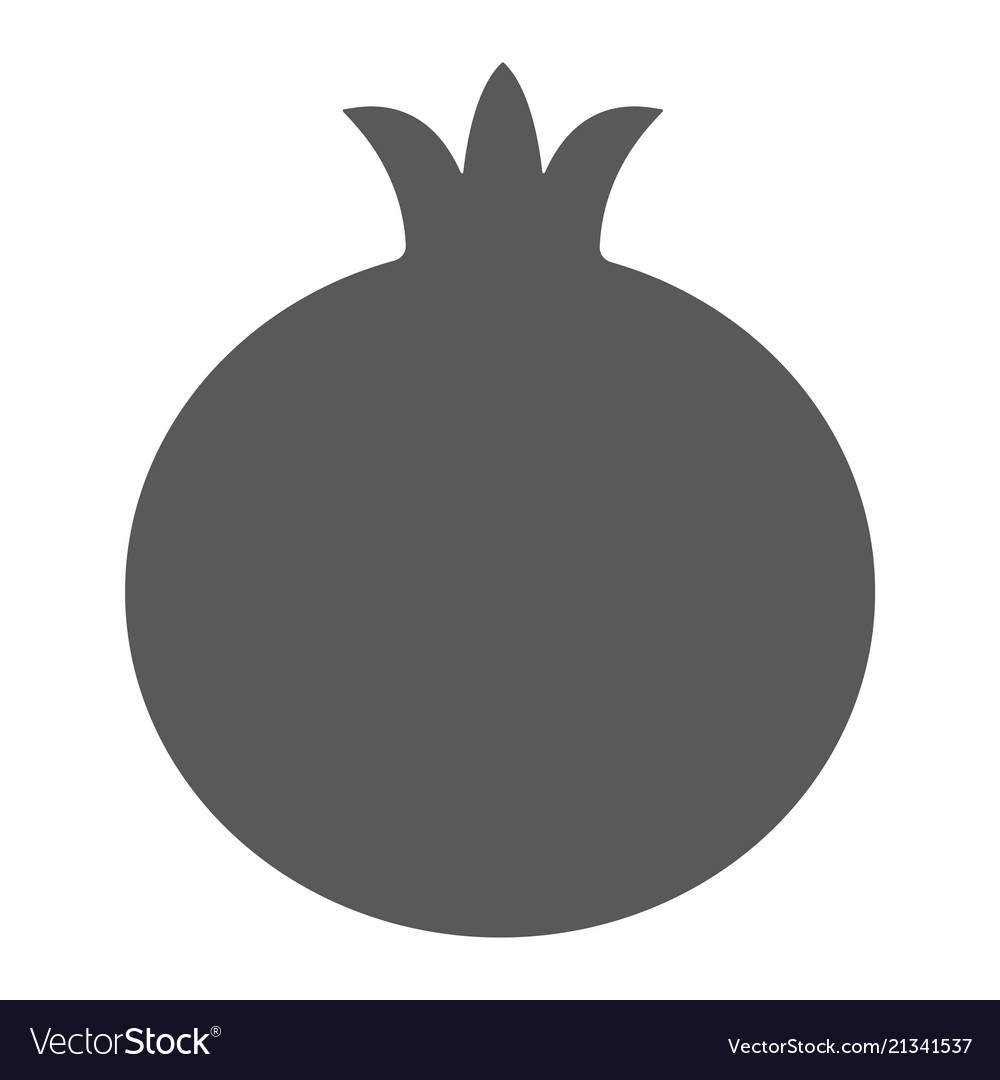 pomegranate glyph icon fruit and vitamin vector image