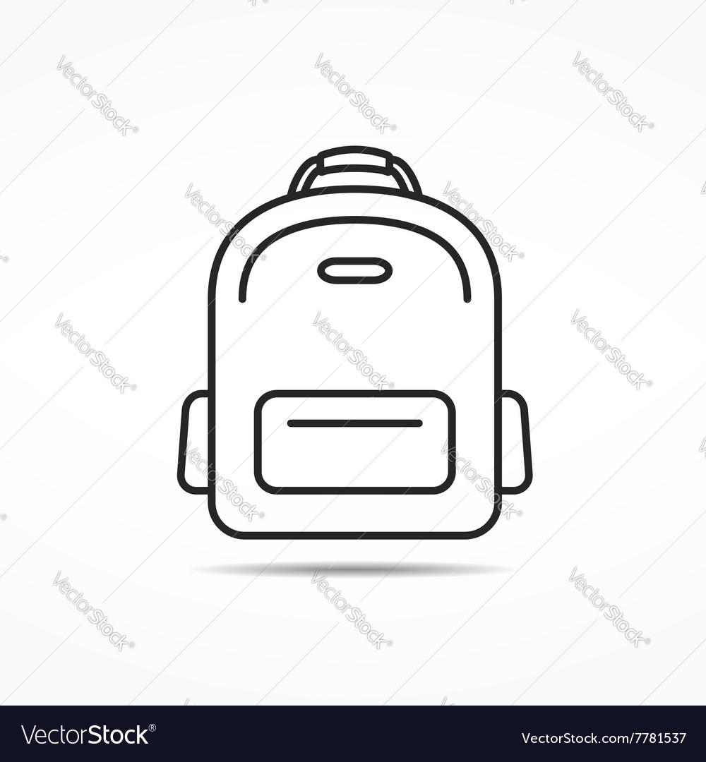 School Bag Line Icon