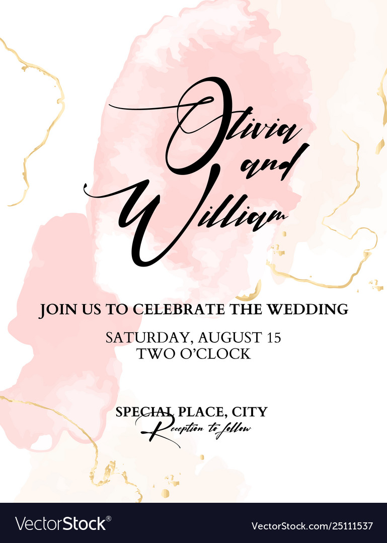 Trendy wedding watercolor blushes chic