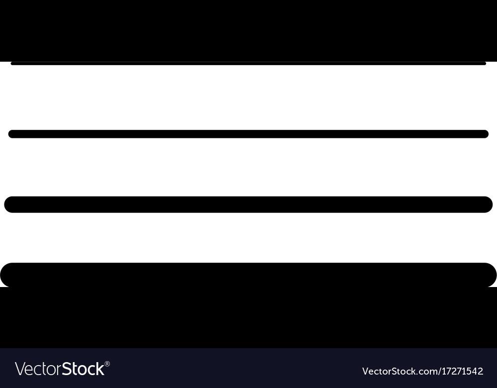Line width icon vector image