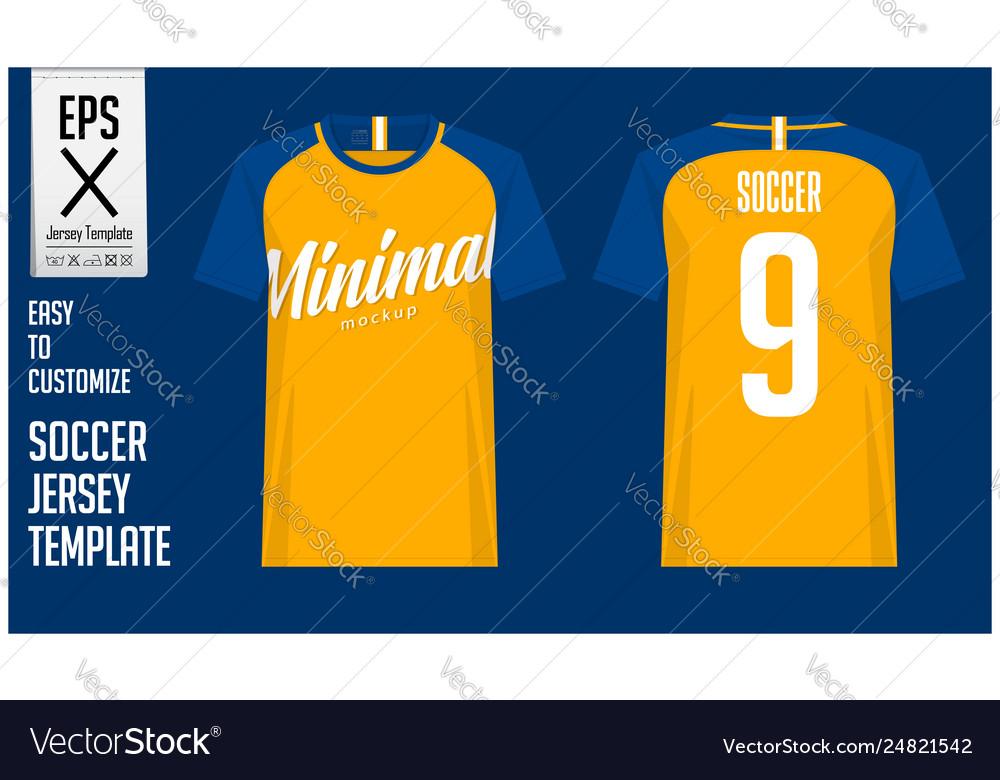 962c7dd32 Soccer jersey football kit mockup template Vector Image