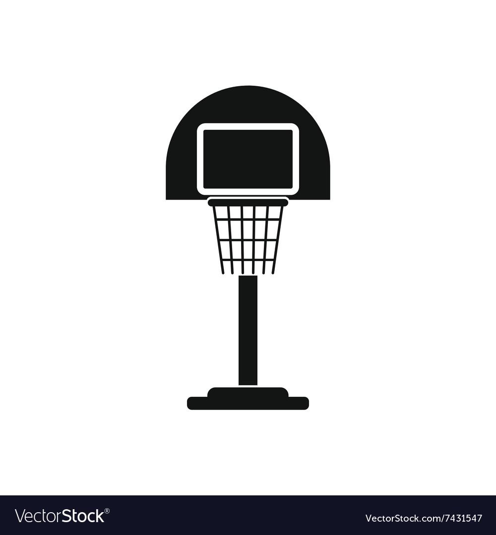 Basketball goal on a playground icon