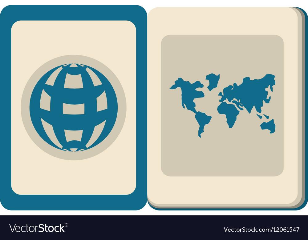 Blue passport identification international travel