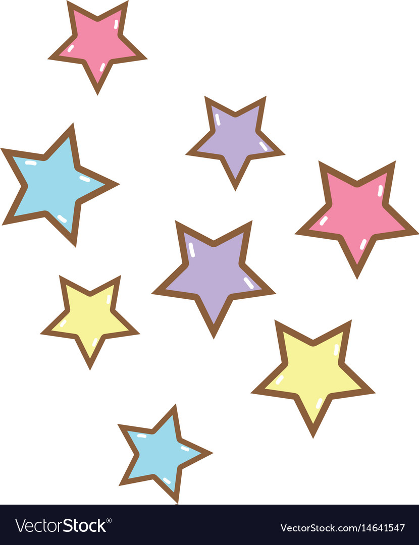 Cute light stars in the sky vector image