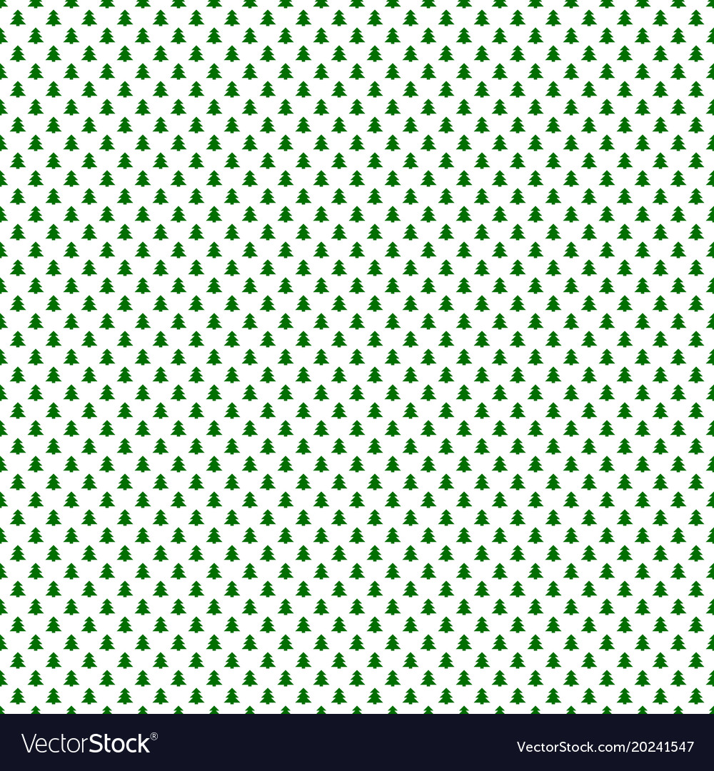 Simple repeating geometric pine tree pattern