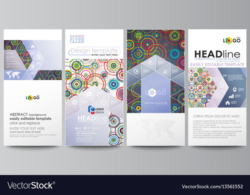Flyers set modern banners business templates
